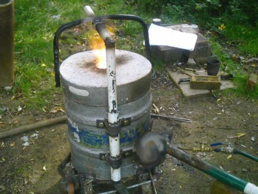 Diy Metal Furnace : Diy propane forge burner related keywords